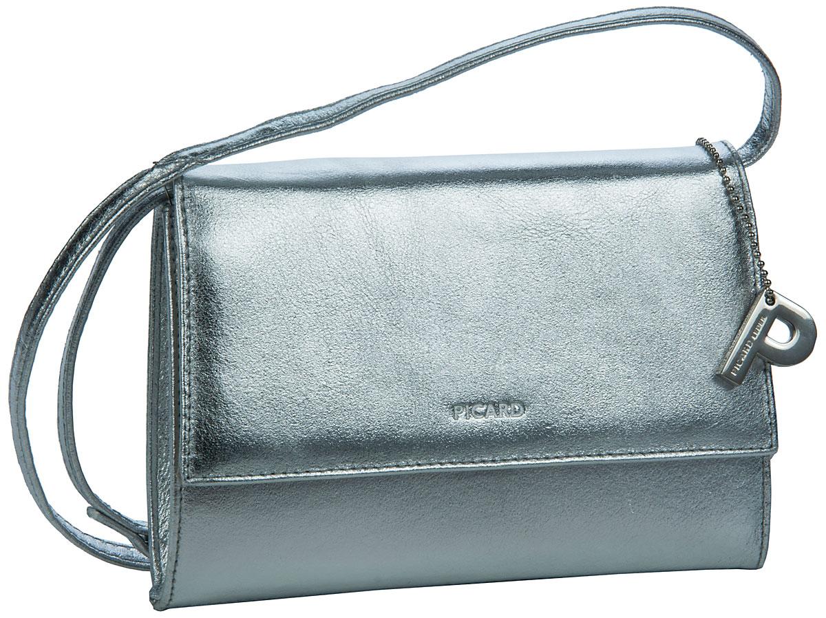 Clutches - Picard Abendtasche Clutch Auguri Damentasche Silber (innen Blau)  - Onlineshop Taschenkaufhaus