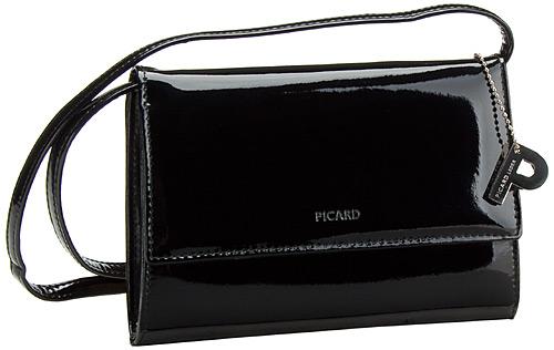 Clutches für Frauen - Picard Abendtasche Auguri Damentasche Schwarz Lack  - Onlineshop Taschenkaufhaus