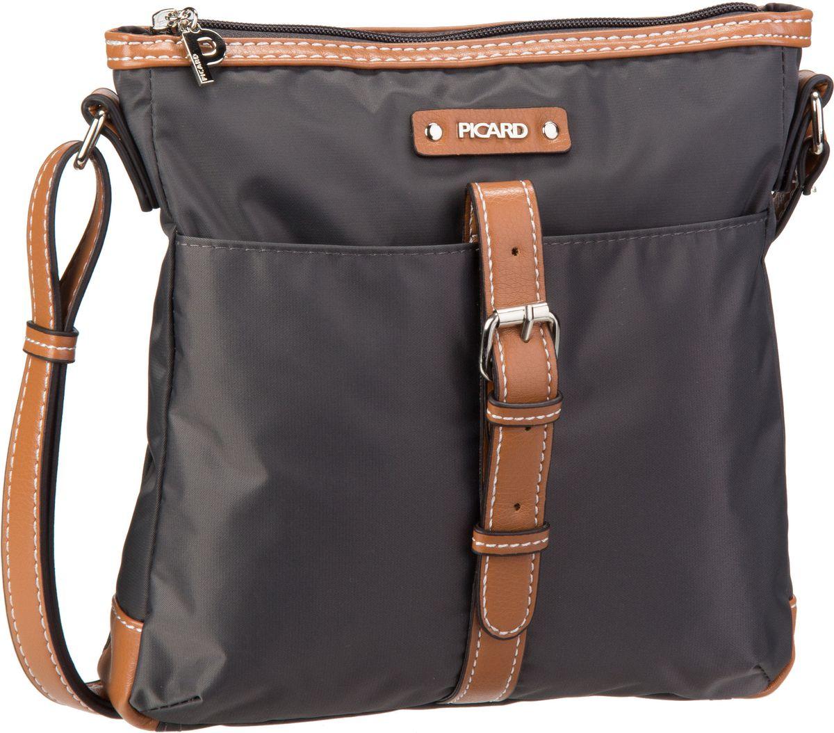 Schultertaschen für Frauen - Picard Umhängetasche Sonja 7830 Anthrazit  - Onlineshop Taschenkaufhaus
