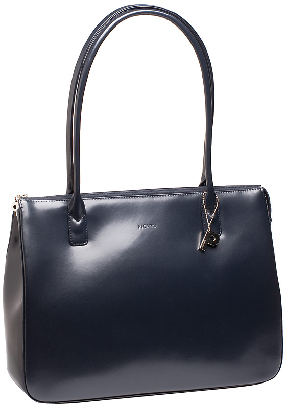 Handtasche Promo 5 Ledertasche Ozean (innen: Nachtblau)