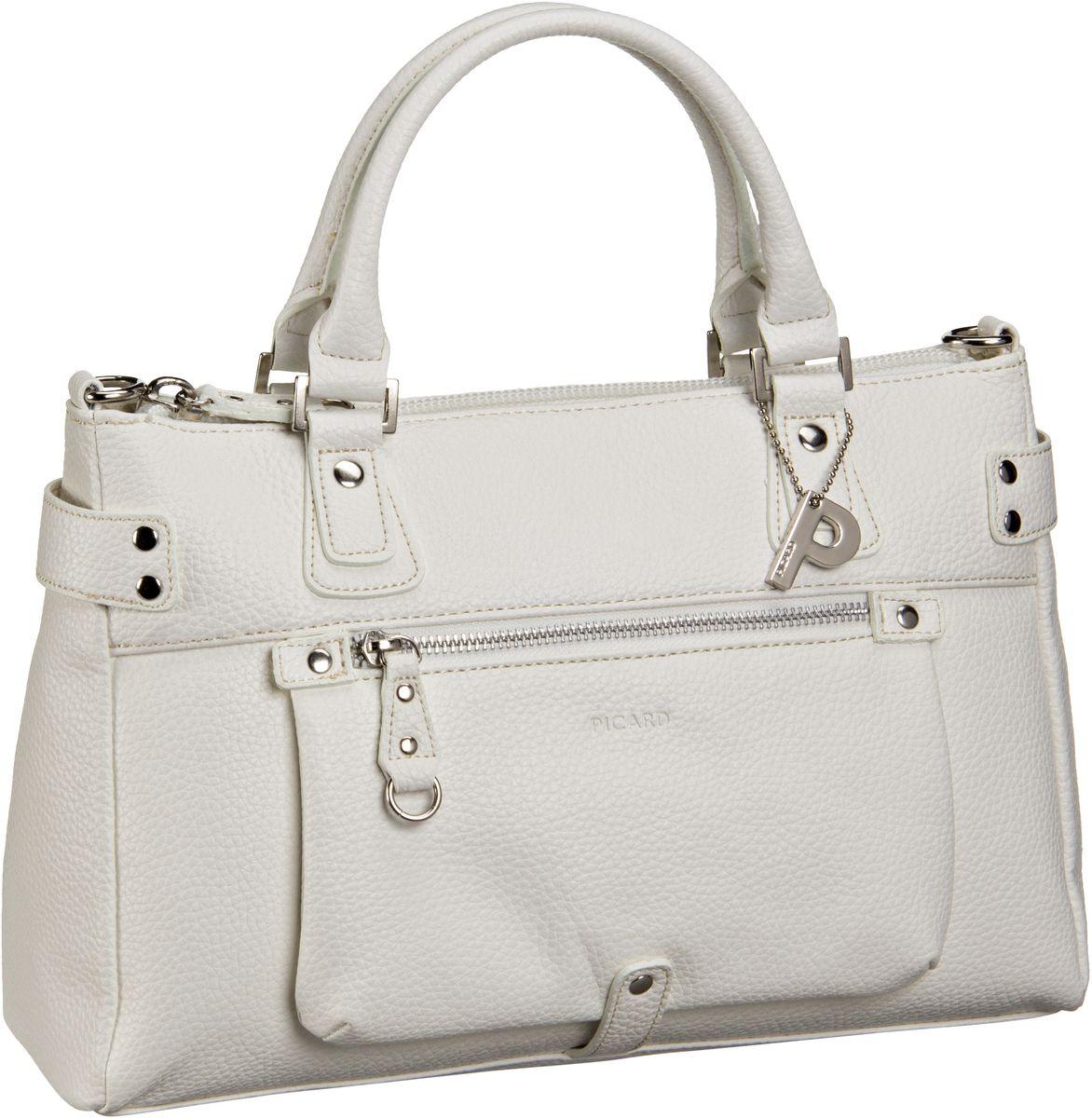 Handtasche Loire Henkeltasche Weiß
