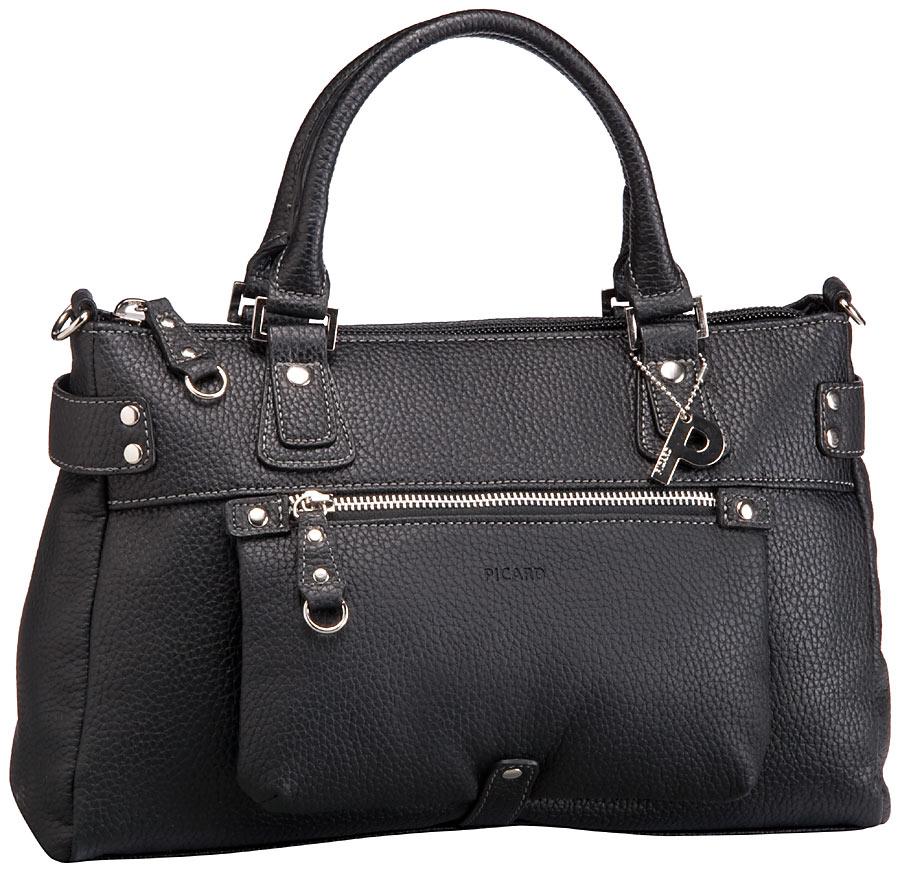 Handtasche Loire Henkeltasche Schwarz