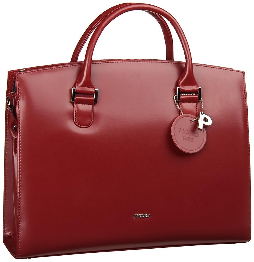 Businesstaschen für Frauen - Picard Aktentasche Berlin Henkeltasche Rot  - Onlineshop Taschenkaufhaus