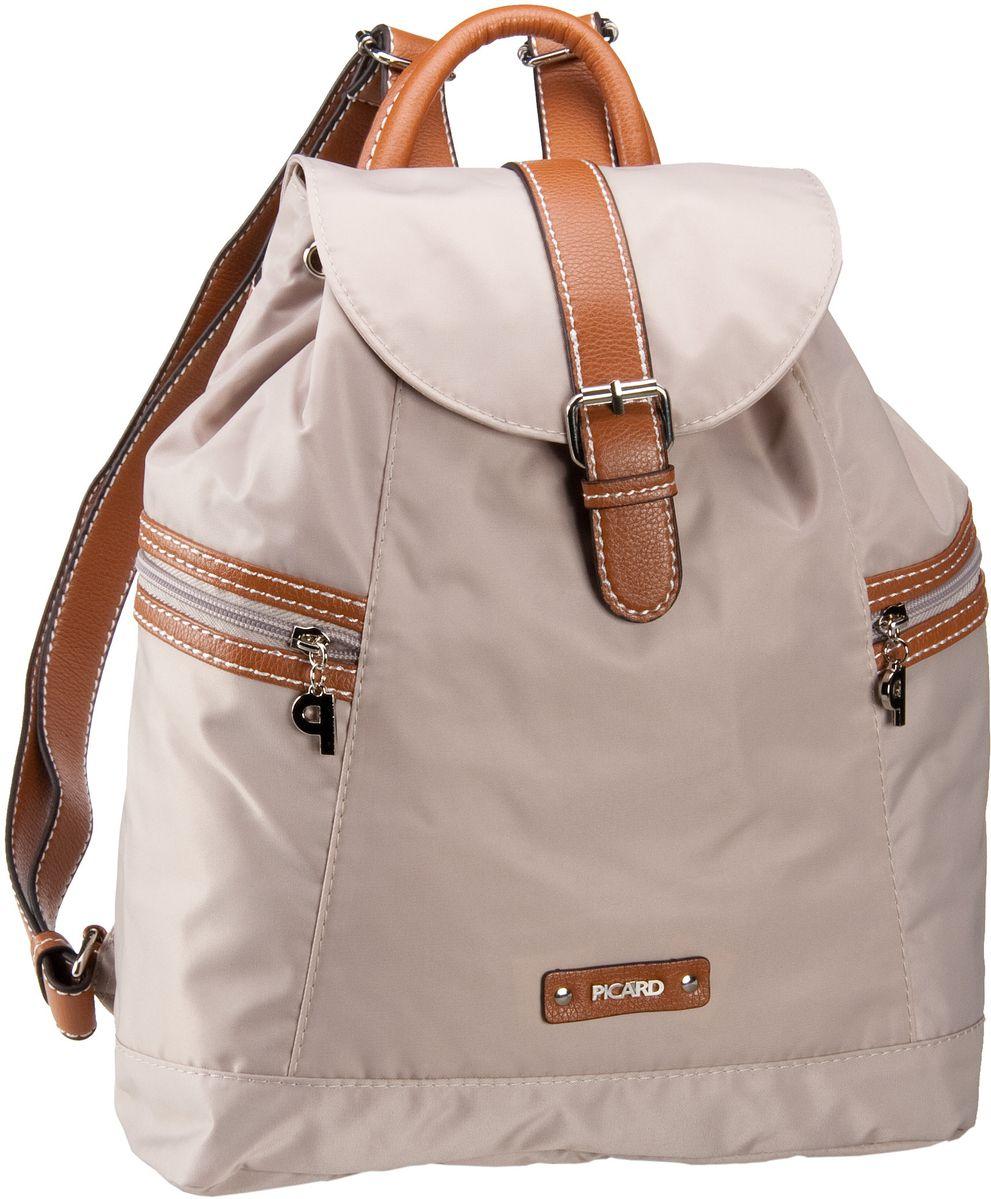Rucksaecke für Frauen - Picard Rucksack Daypack Sonja Rucksack Perle  - Onlineshop Taschenkaufhaus