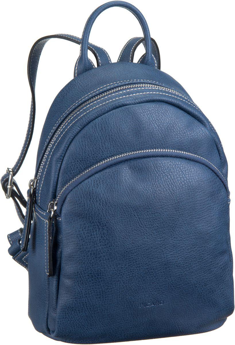 Rucksaecke für Frauen - Picard Rucksack Daypack Skylar 2435 Navy  - Onlineshop Taschenkaufhaus