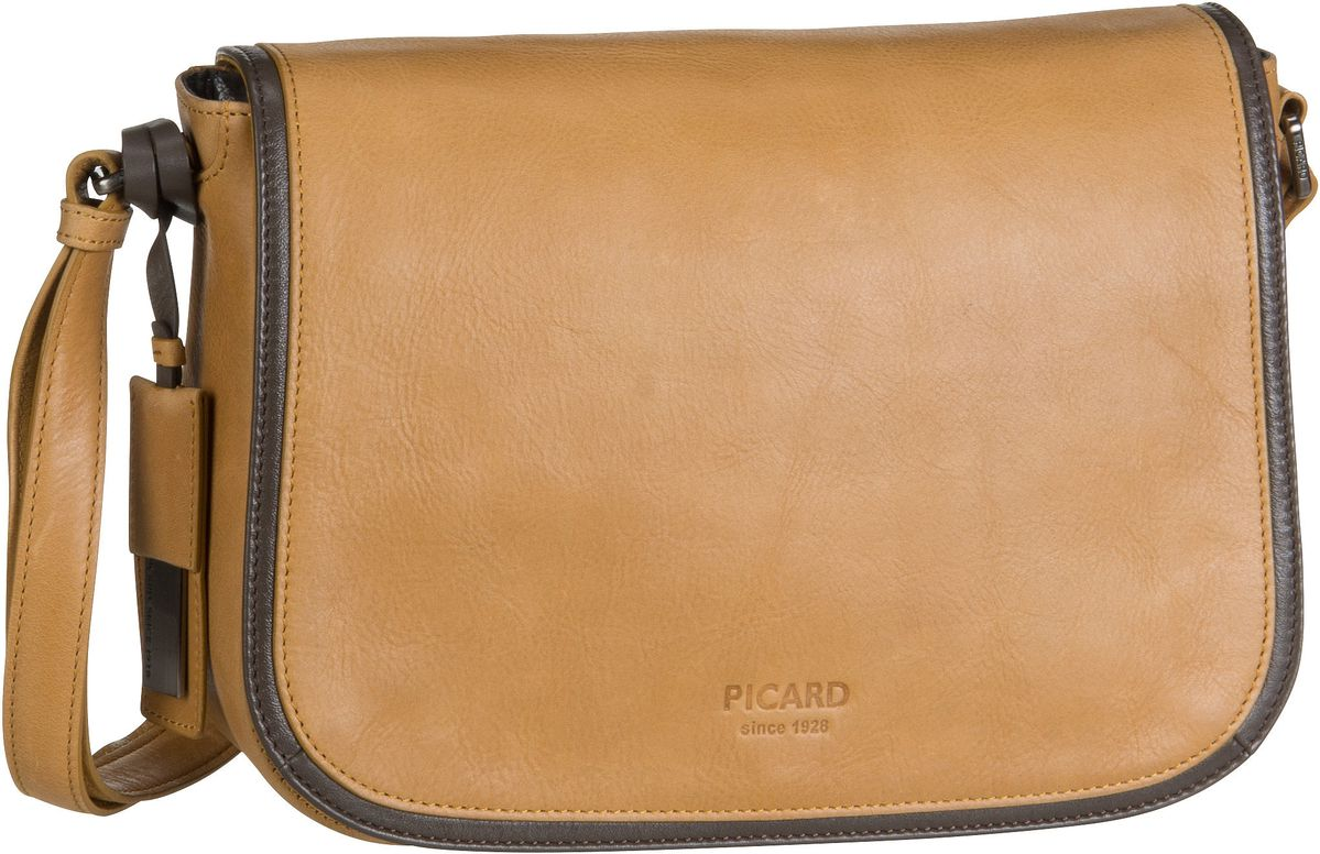 Schultertaschen für Frauen - Picard Umhängetasche Real 8216 Curry Kombi  - Onlineshop Taschenkaufhaus