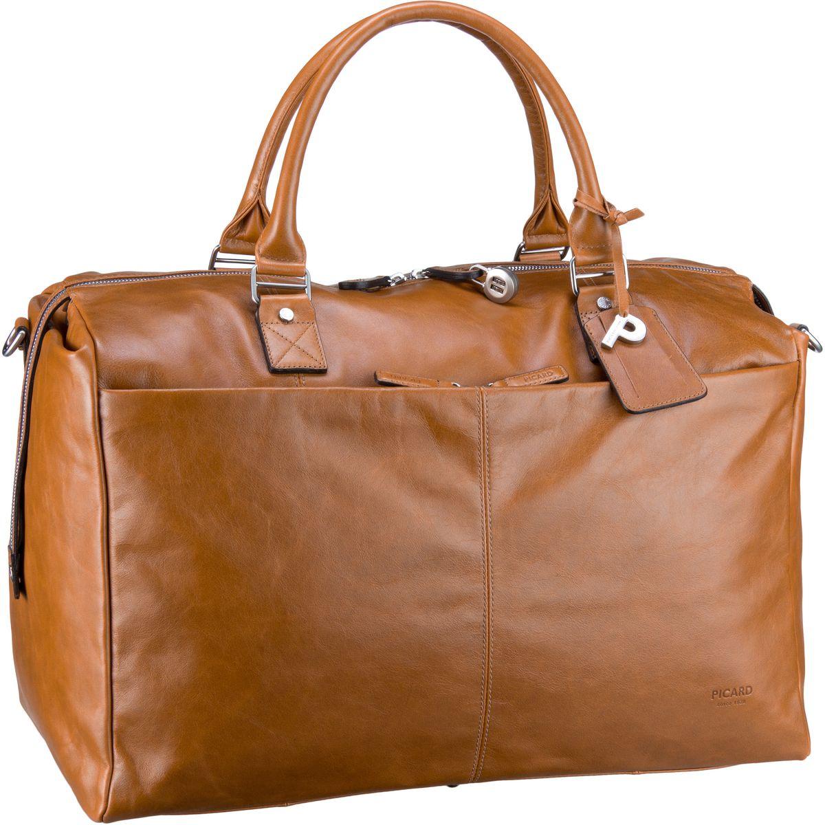 Reisegepaeck für Frauen - Picard Reisetasche Weekend 4607 Cognac  - Onlineshop Taschenkaufhaus