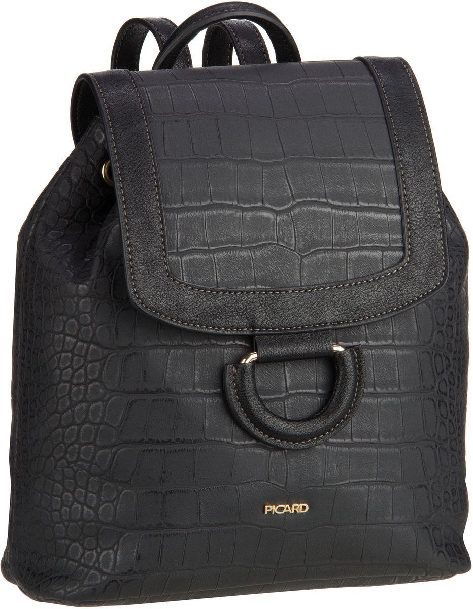 Rucksaecke für Frauen - Picard Rucksack Daypack Sammy 2339 Schwarz  - Onlineshop Taschenkaufhaus