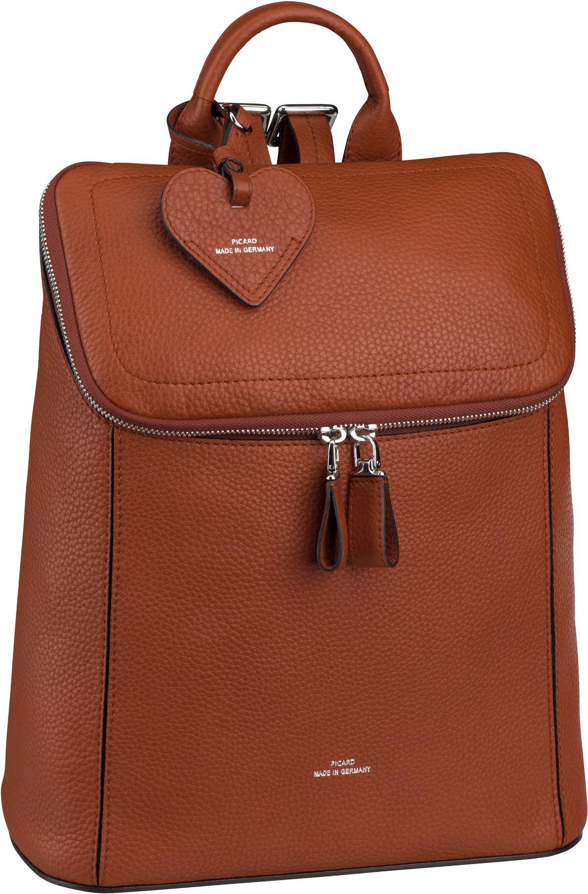 Rucksaecke für Frauen - Picard Rucksack Daypack Juliette 4859 Cognac  - Onlineshop Taschenkaufhaus