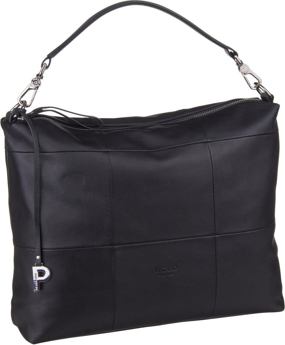 Handtasche Checkered 9421 Schwarz