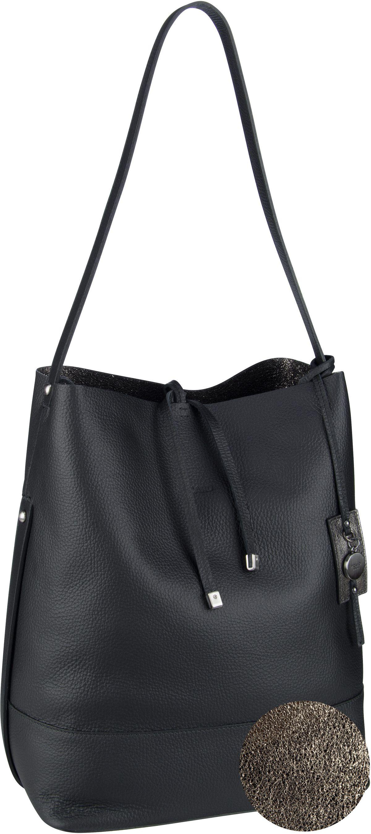 Handtasche Eclectic 4898 Schwarz (innen: Silber)