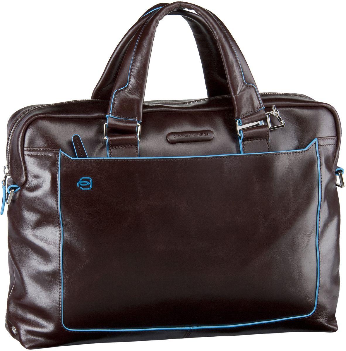 Businesstaschen für Frauen - Piquadro Blue Square Tote Bag Quer Mogano Aktentasche  - Onlineshop Taschenkaufhaus