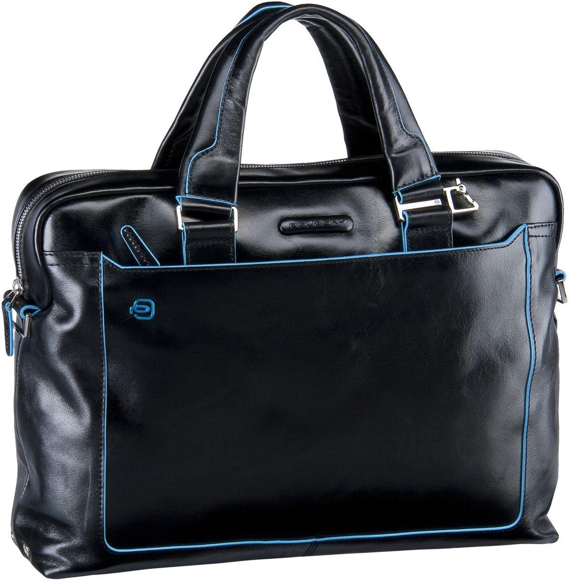 Blue Square Tote Bag Quer Nero