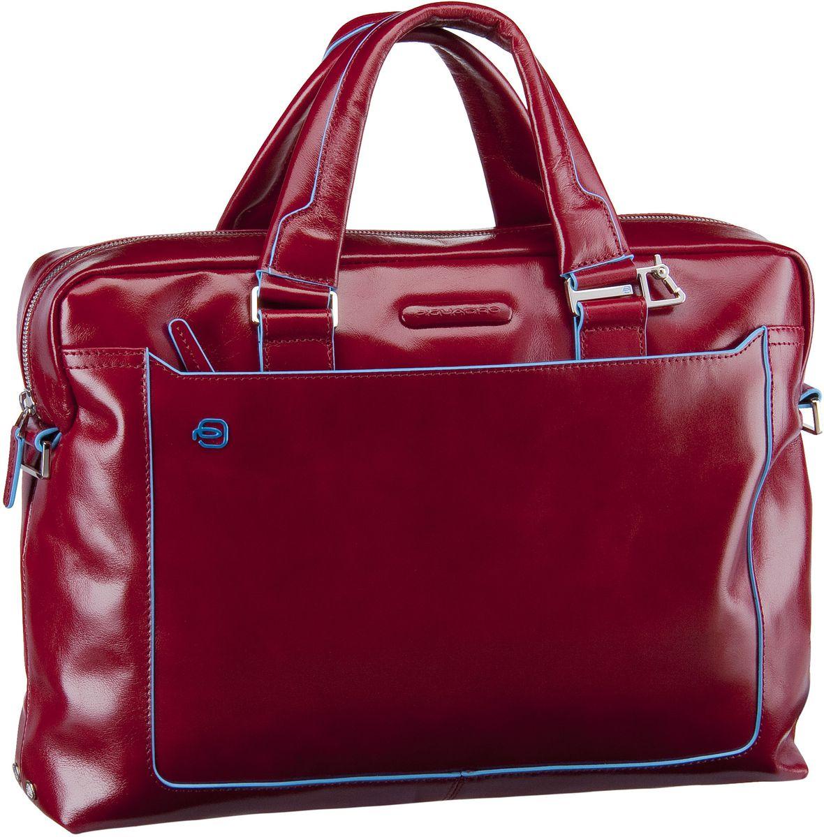 Businesstaschen für Frauen - Piquadro Aktentasche Blue Square Tote Bag Quer Rosso  - Onlineshop Taschenkaufhaus