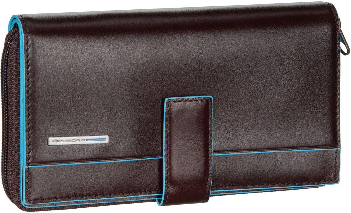 Geldboersen für Frauen - Piquadro Blue Square 1354 RFID Mogano Kellnerbörse  - Onlineshop Taschenkaufhaus