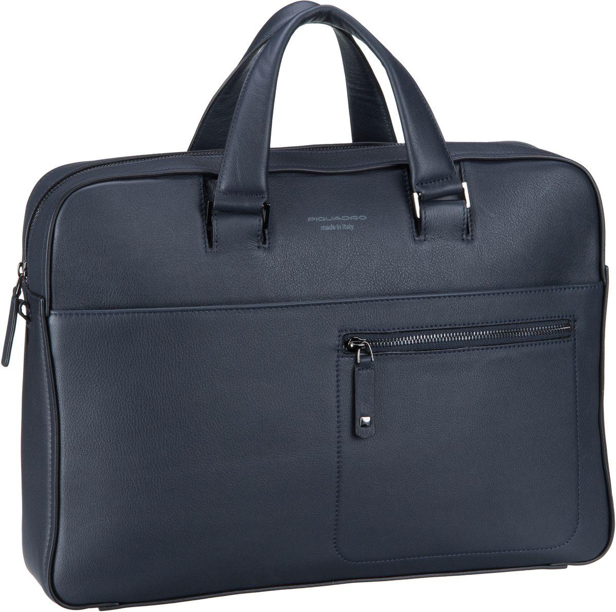 Businesstaschen für Frauen - Piquadro Aktentasche David 4141 Blu Notte  - Onlineshop Taschenkaufhaus