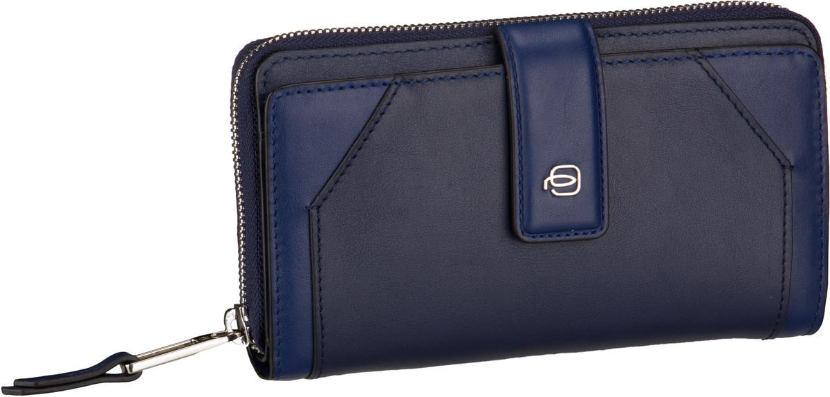 Geldboersen für Frauen - Piquadro Kellnerbörse Muse Special 1354 RFID Blu  - Onlineshop Taschenkaufhaus