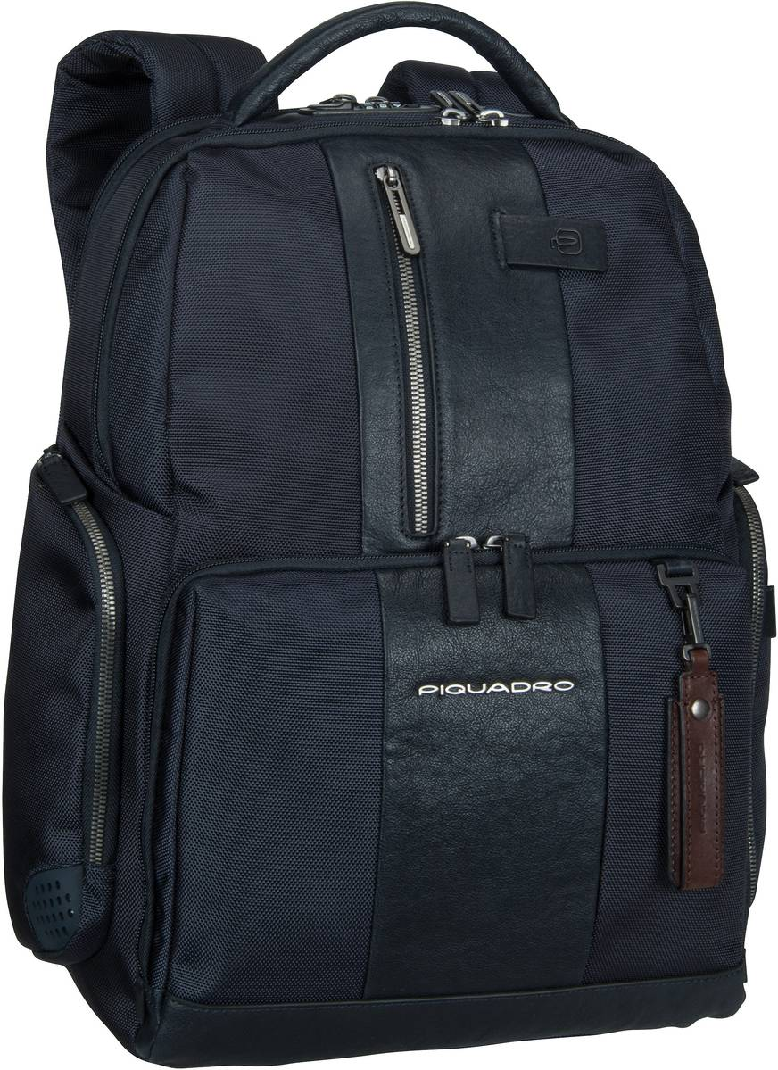 Piquadro Laptoprucksack Brief 4439 Connequ RFID Blu