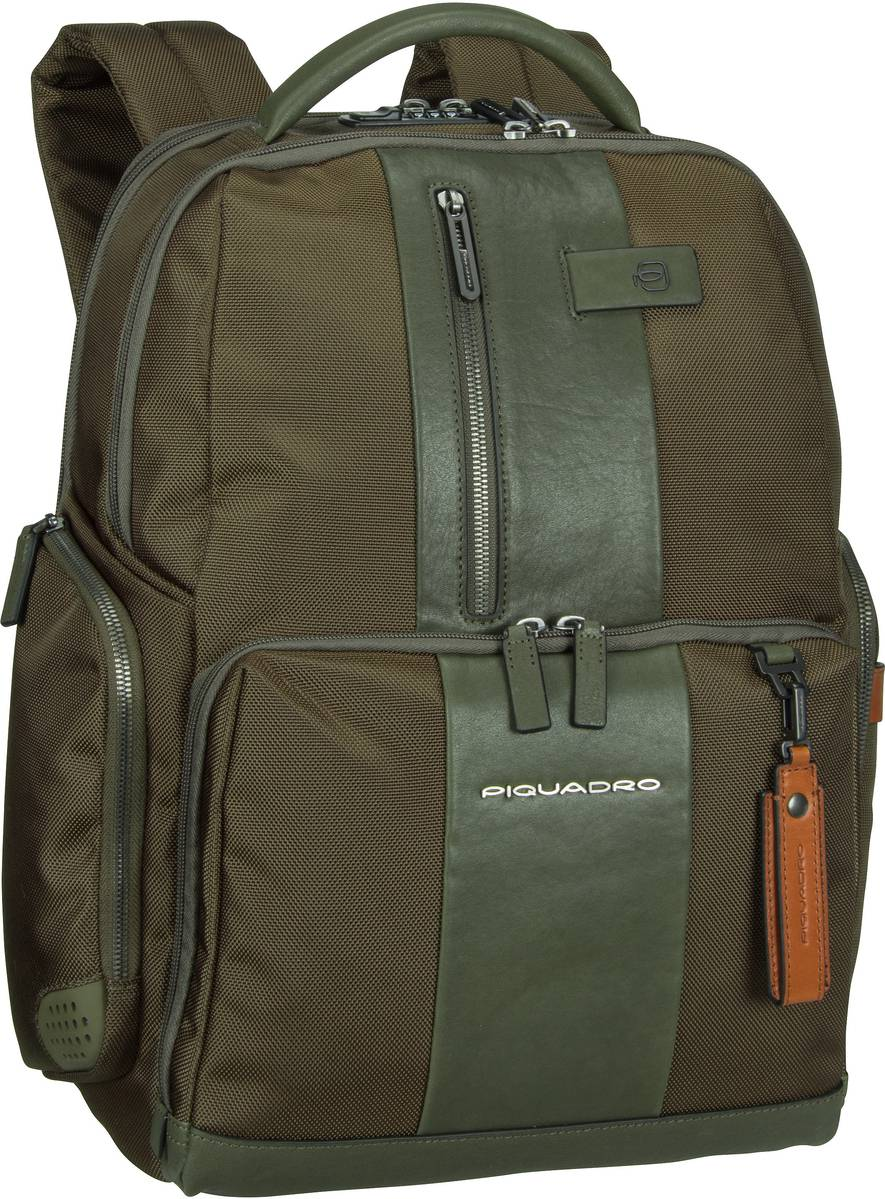 Laptoprucksack Brief 4439 Connequ RFID Verde Oliva