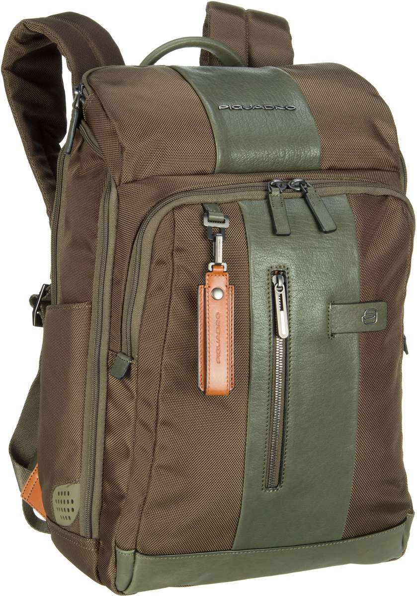 Laptoprucksack Brief 4443 Connequ RFID Verde Oliva