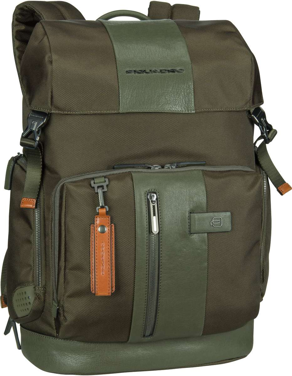 Laptoprucksack Brief 4534 Connequ RFID Verde Oliva