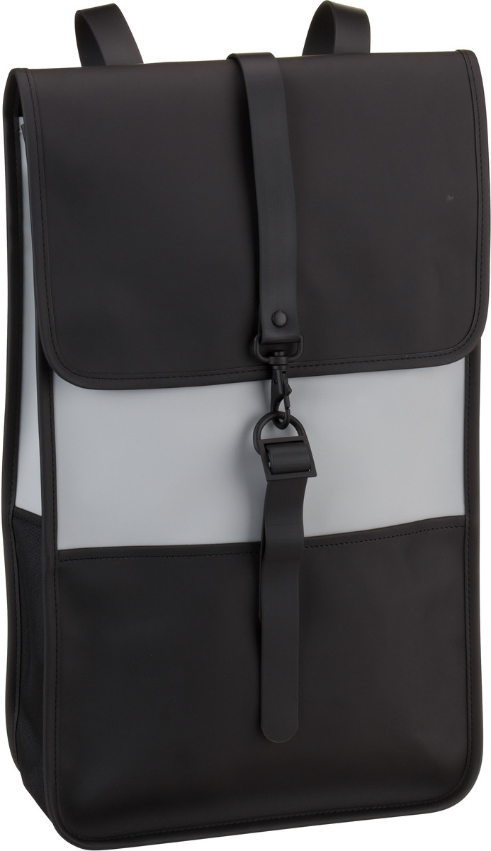 Rains Laptoprucksack Backpack Black/Stone (14 Liter)