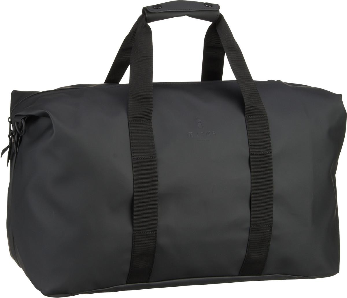 Reisegepaeck für Frauen - Rains Reisetasche Weekend Bag Black (44 Liter)  - Onlineshop Taschenkaufhaus