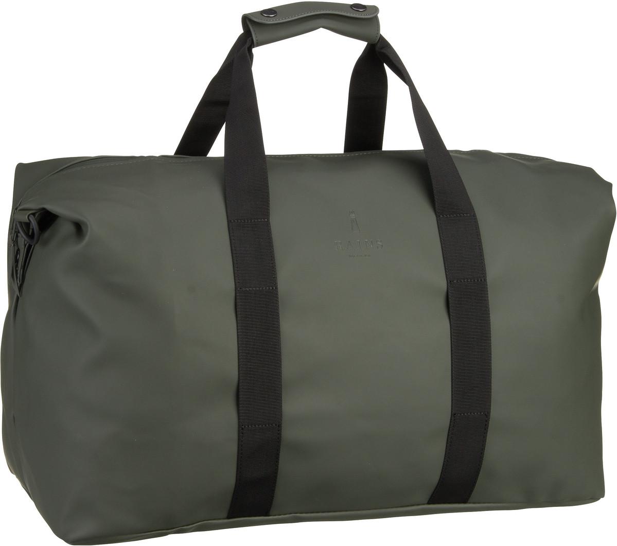 Reisegepaeck für Frauen - Rains Reisetasche Weekend Bag Green (44 Liter)  - Onlineshop Taschenkaufhaus