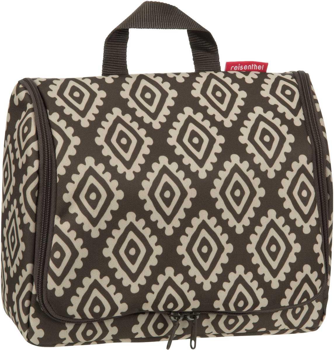 Reisegepaeck für Frauen - reisenthel Kulturbeutel Beauty Case toiletbag XL Diamonds Mocha (4 Liter)  - Onlineshop Taschenkaufhaus