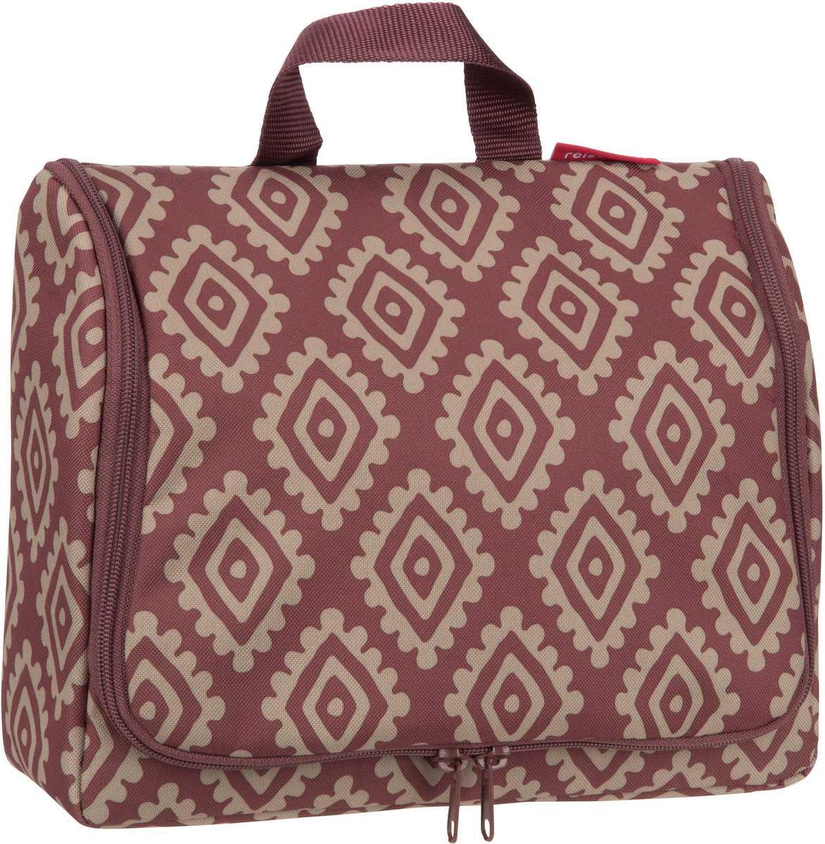 Reisegepaeck für Frauen - reisenthel Kulturbeutel Beauty Case toiletbag XL Diamonds Rouge (4 Liter)  - Onlineshop Taschenkaufhaus