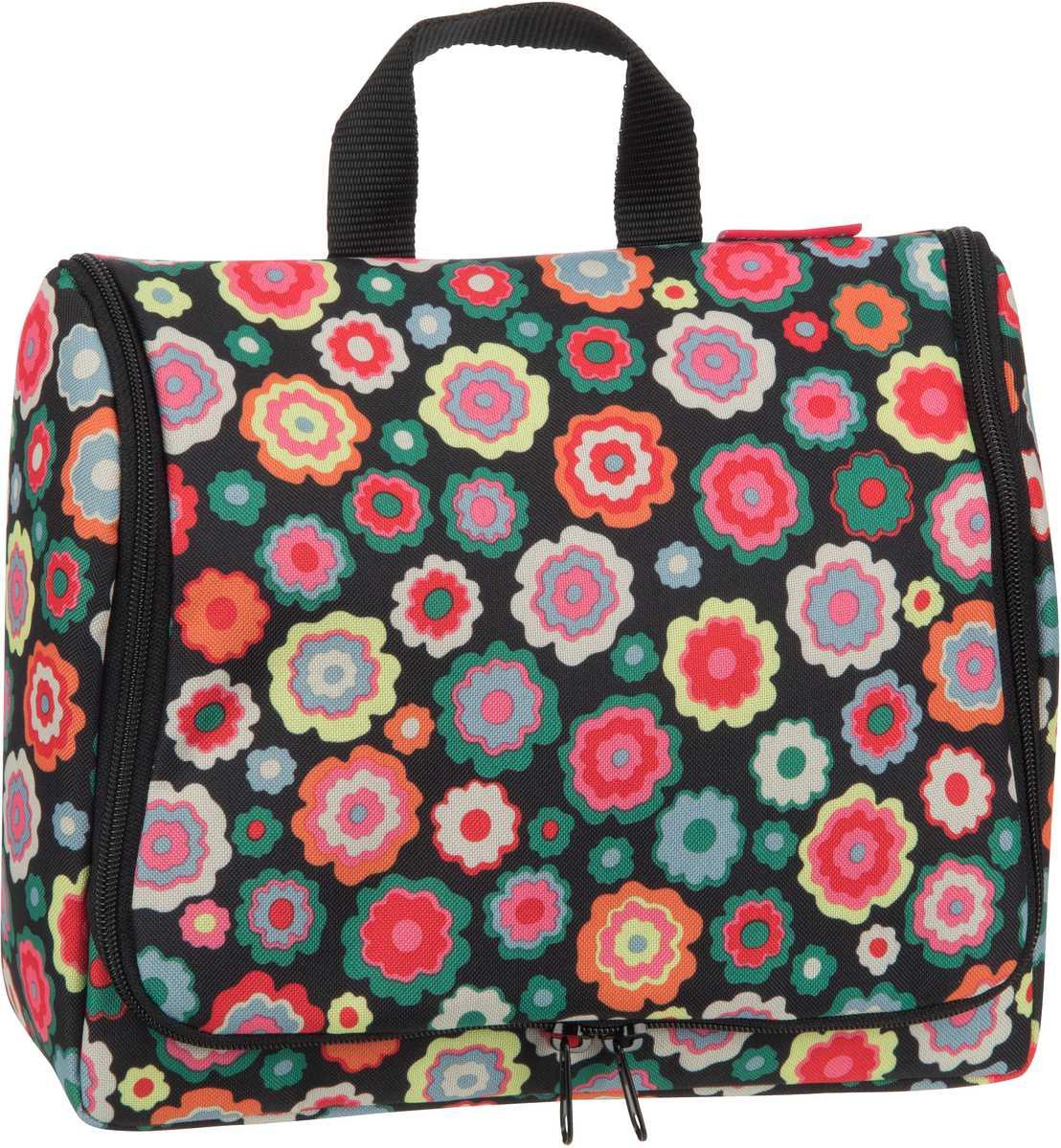 Reisegepaeck für Frauen - reisenthel Kulturbeutel Beauty Case toiletbag XL Happy Flowers (4 Liter)  - Onlineshop Taschenkaufhaus