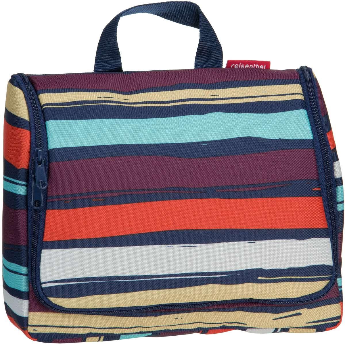 Reisegepaeck für Frauen - reisenthel Kulturbeutel Beauty Case toiletbag XL Artist Stripes (4 Liter)  - Onlineshop Taschenkaufhaus