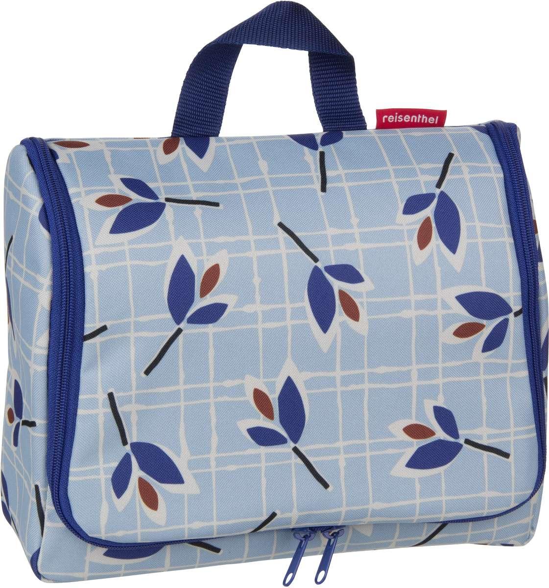 Reisegepaeck für Frauen - reisenthel Kulturbeutel Beauty Case toiletbag XL Leaves Blue (4 Liter)  - Onlineshop Taschenkaufhaus
