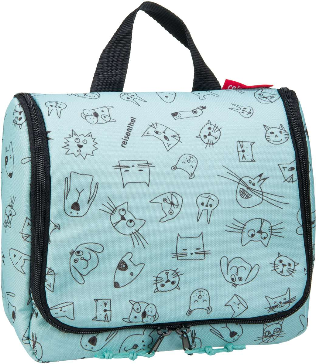 kids toiletbag Cats and Dogs Mint