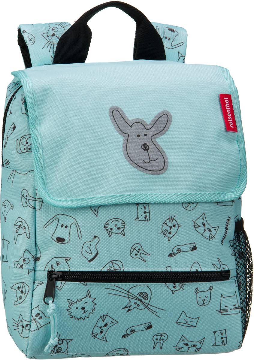 Rucksack / Daypack kids backpack Cats and Dogs Mint (5 Liter)