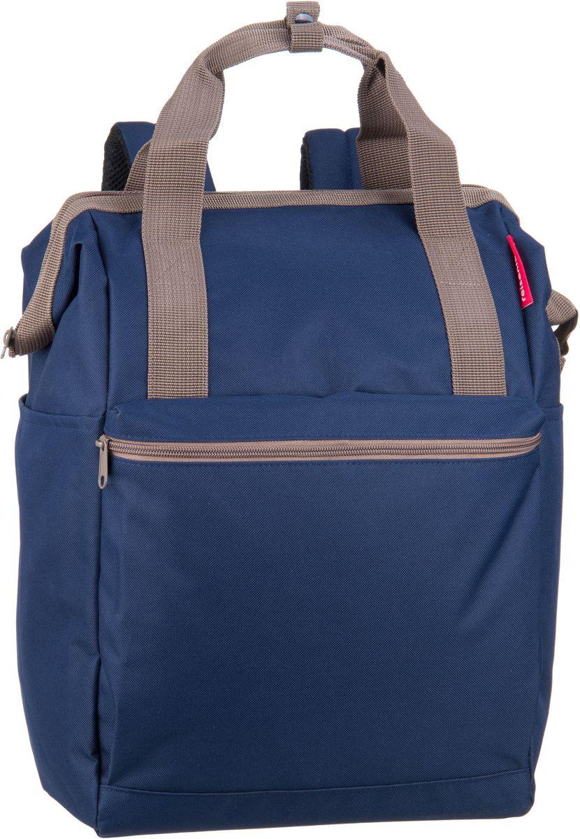 Rucksaecke für Frauen - reisenthel Rucksack Daypack allrounder R large Dark Blue (23 Liter)  - Onlineshop Taschenkaufhaus