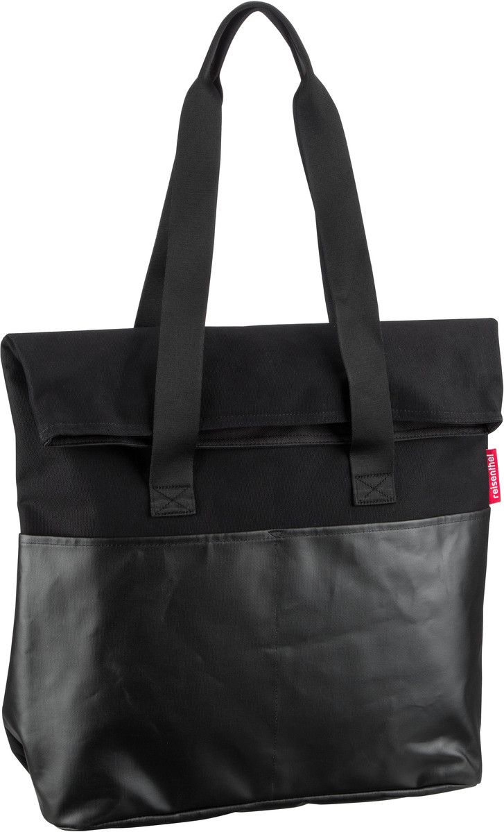 reisenthel Handtasche foldbag canvas Black (23 Liter)