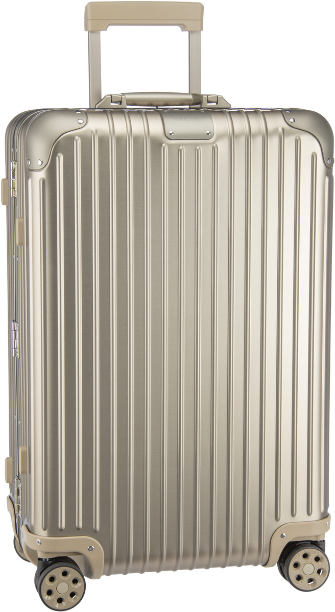 Rimowa Trolley + Koffer Original Check-In M Titanium (60 Liter)
