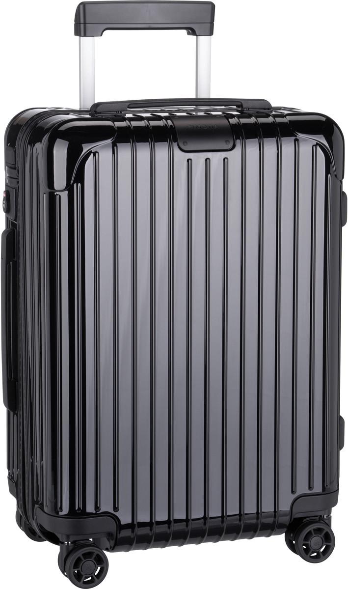 Rimowa Trolley + Koffer Essential Cabin Black Gloss (36 Liter)