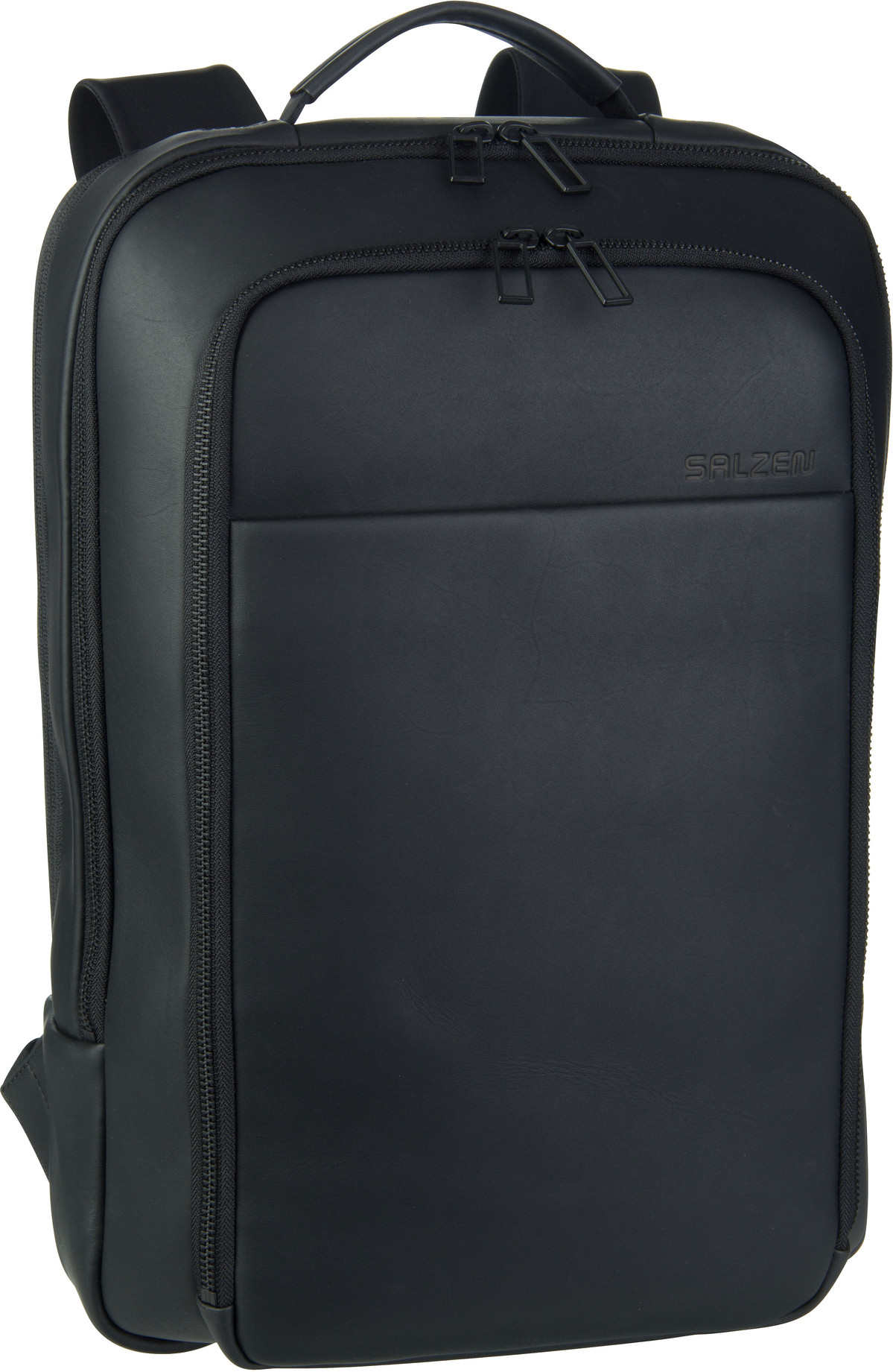 Laptoprucksack Originator Leather Total Black (17 Liter)