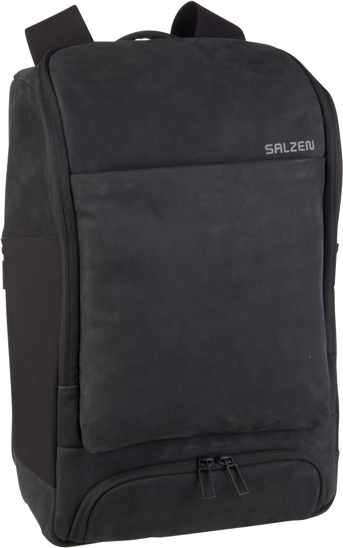 Laptoprucksack Alpha Backpack Leather Charcoal Black (17 Liter)