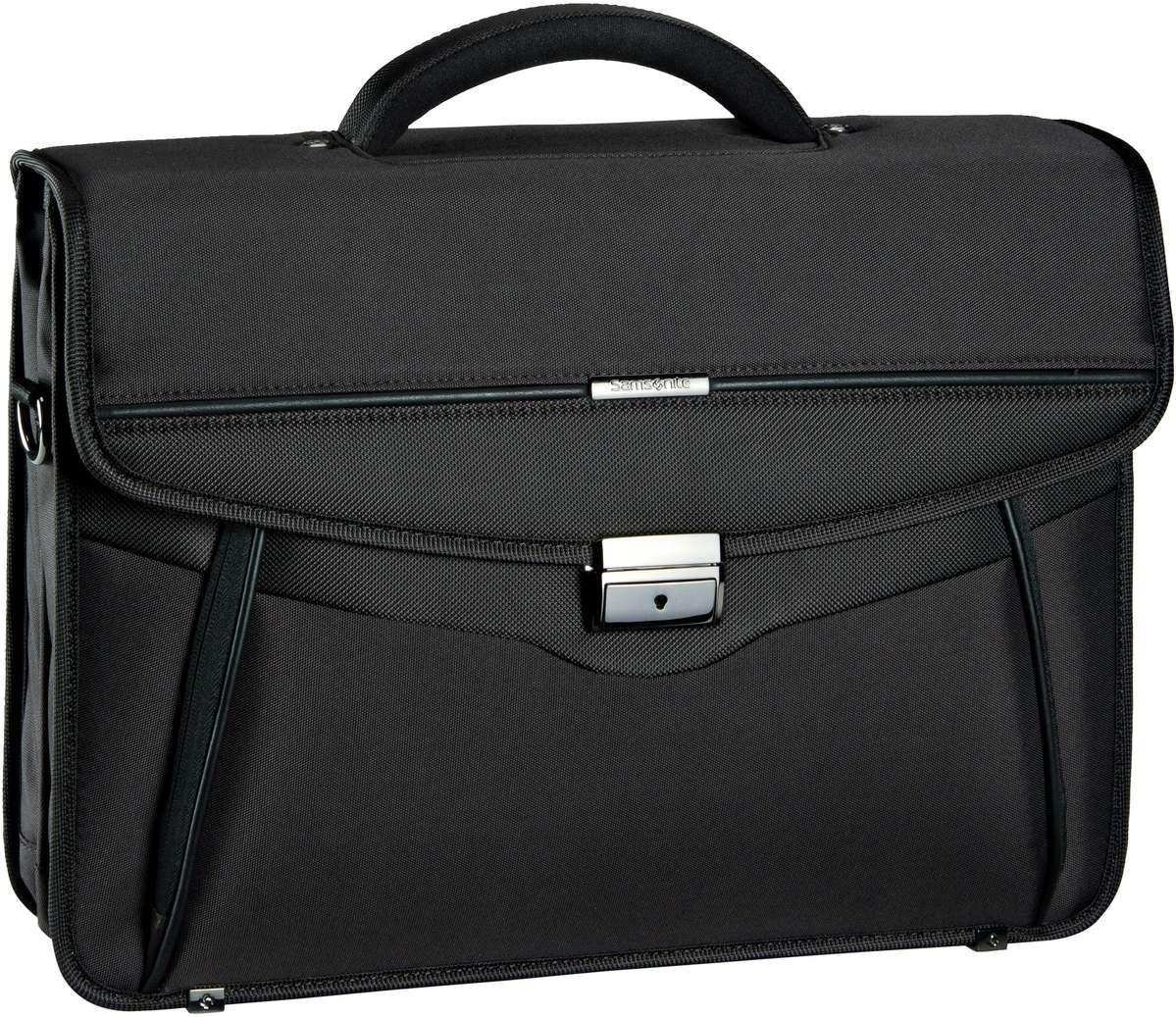 Schmogrow-Fehrow Angebote Samsonite Desklite Briefcase 2 Gussets 15.6´´ Black - Aktentasche