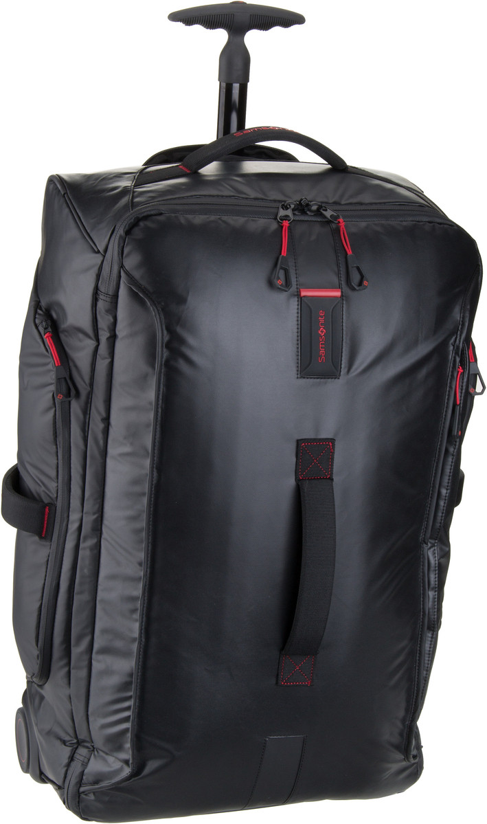 Reisegepaeck für Frauen - Samsonite Trolley Koffer Paradiver Light Wheeled Duffle 67 Black (74.5 Liter)  - Onlineshop Taschenkaufhaus
