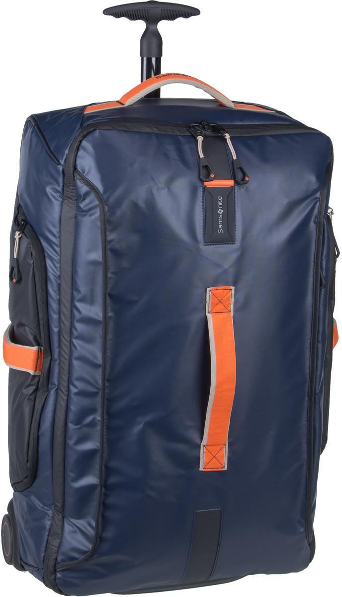 Reisegepaeck für Frauen - Samsonite Trolley Koffer Paradiver Light Wheeled Duffle 67 Blue Nights (74.5 Liter)  - Onlineshop Taschenkaufhaus