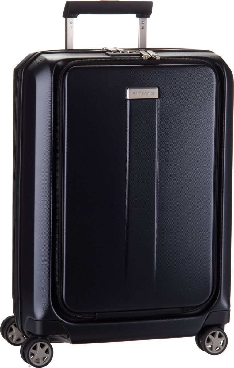 Reisegepaeck für Frauen - Samsonite Trolley Koffer Prodigy Spinner 55 Expandable Black (40 Liter)  - Onlineshop Taschenkaufhaus