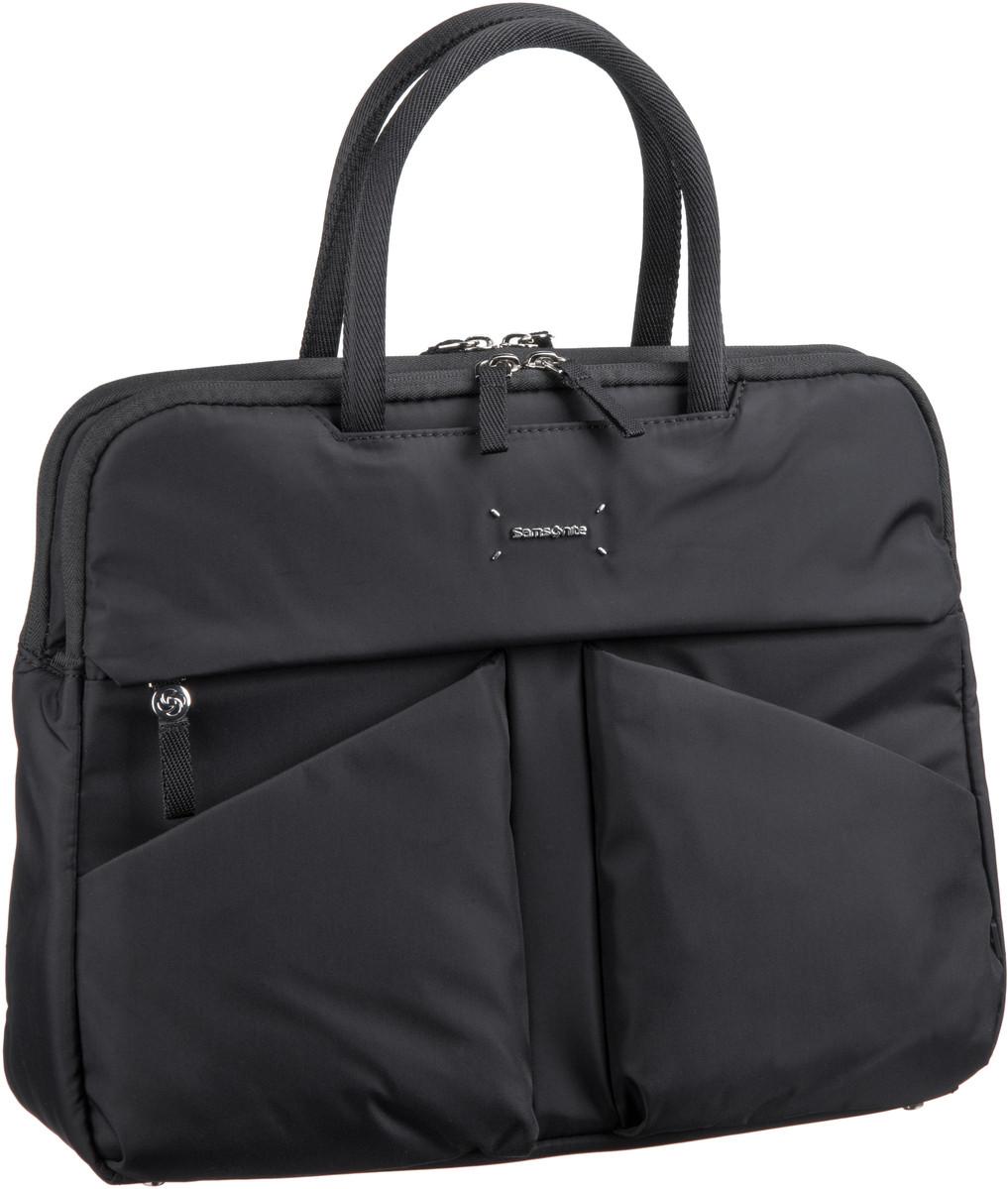 Businesstaschen für Frauen - Samsonite Lady Tech Bailhandle 14.1'' Black Aktentasche  - Onlineshop Taschenkaufhaus