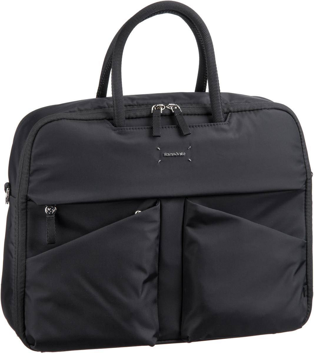 Businesstaschen für Frauen - Samsonite Lady Tech Bailhandle 15.6'' Black Aktentasche  - Onlineshop Taschenkaufhaus