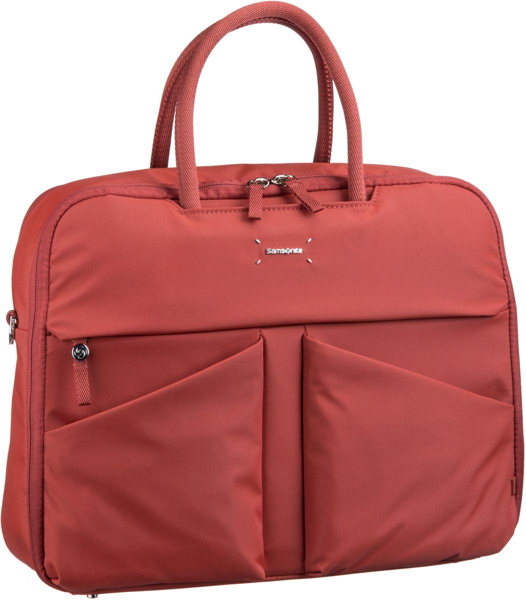 Businesstaschen für Frauen - Samsonite Lady Tech Bailhandle 15.6'' Rust Aktentasche  - Onlineshop Taschenkaufhaus