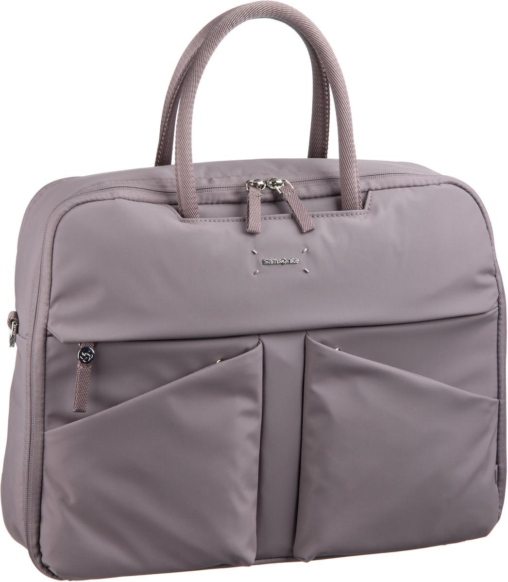 Businesstaschen für Frauen - Samsonite Lady Tech Bailhandle 15.6'' Smoke Aktentasche  - Onlineshop Taschenkaufhaus