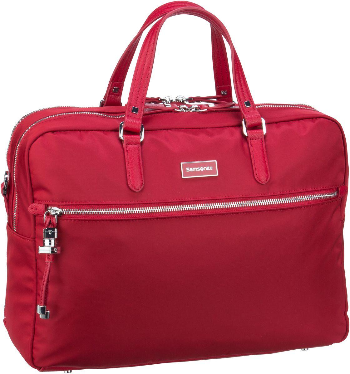 Businesstaschen für Frauen - Samsonite Karissa Biz Bailhandle 15.6'' 2 Comp Formula Red Aktentasche  - Onlineshop Taschenkaufhaus